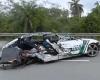 事故で大破したスポーツカー、ドライバーの頭が無くなる。。