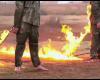 【炎のダンス】イスラム国さん、捕虜を鎖で繋いで焼き殺す